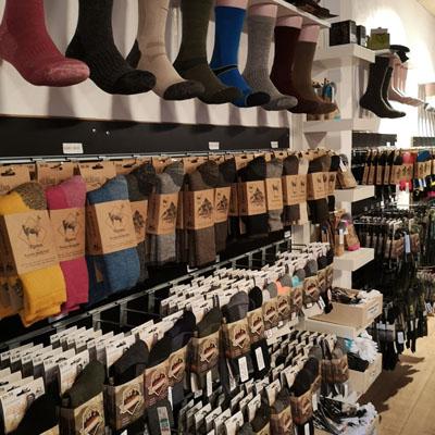 Butik med strømper og sokker i Middelfart